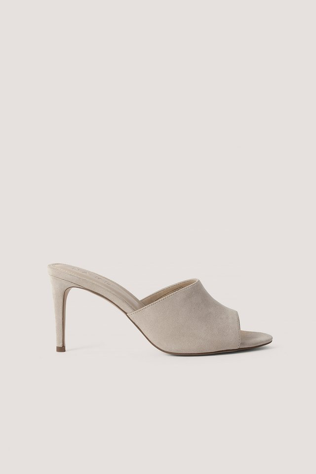 Stiletto Mules Nude