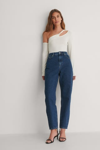 Blue Stone Wash Stone Wash Mom Jeans