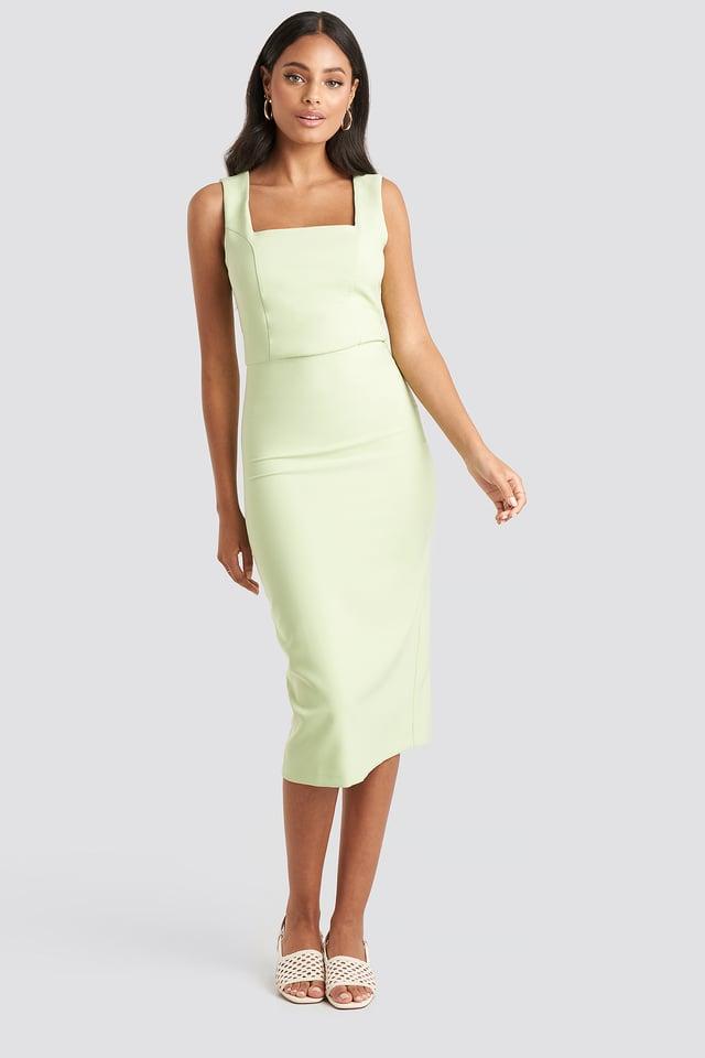 Straight Classic Midi Dress Mint