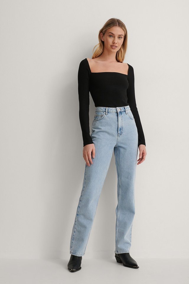 Denim Straight Jeans