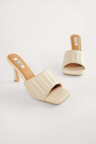 Beige Straight Quilt Stilettos