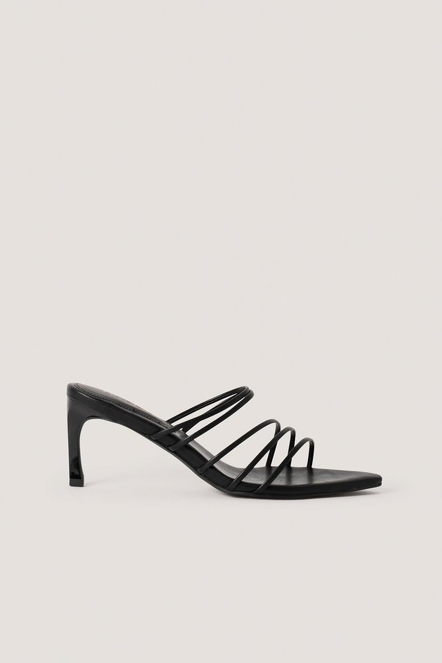 Strappy Pointy Sandals NA-KD Shoes