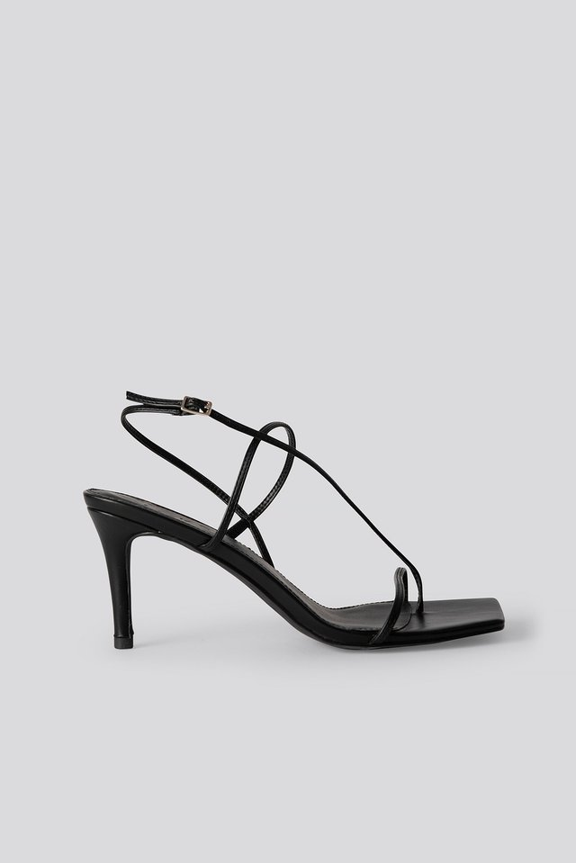 Strappy Stiletto Sandals NA-KD Shoes