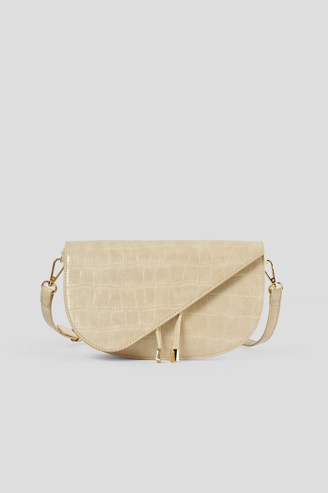 Nude String Detailed Crossbody Bag