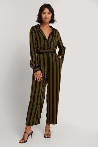 Striped Spodnie W Paski