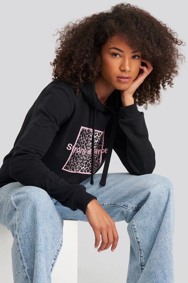 Strong and Fierce Hoodie Black