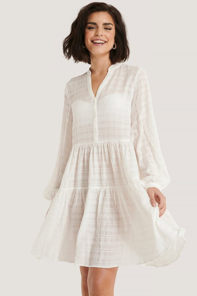 Structure A-Line Dress White