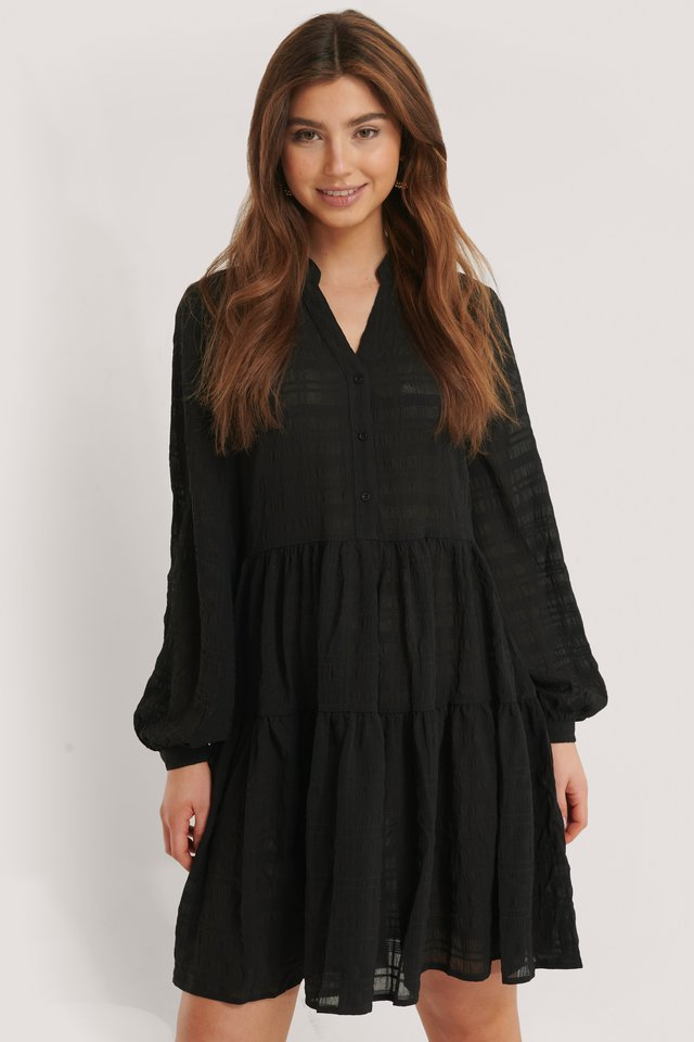 Structure A-Line Dress Black