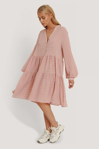 Dusty Pink Structure A-Line Dress