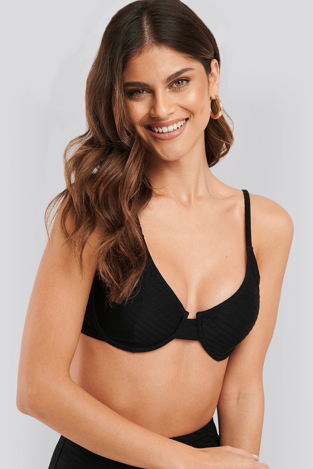 Structured Bikini Cup Bra Black