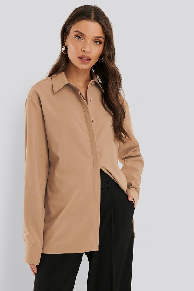Structured Blouse Beige