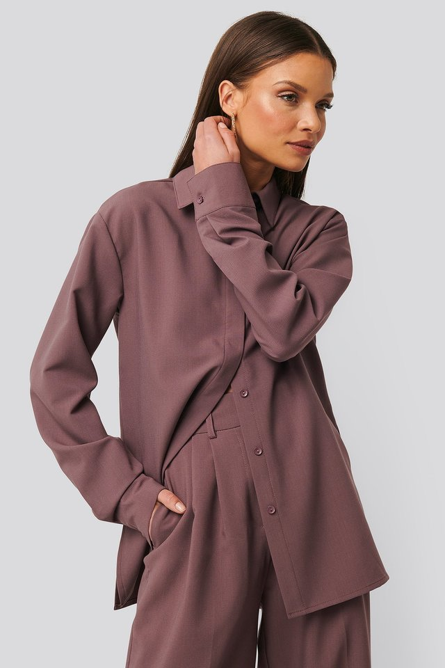Structured Blouse Dusty Lilac