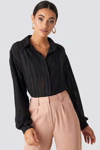 Black Structured Blouse