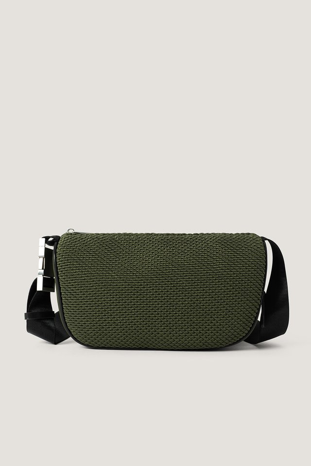 Khaki Structured Nylon Bag