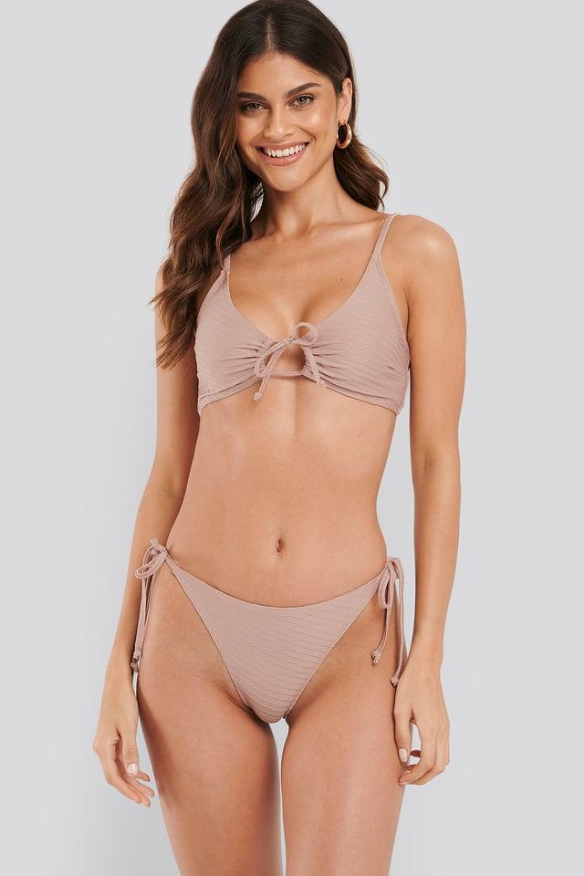 Structured Triangle Bikini Panty Dusty Pink