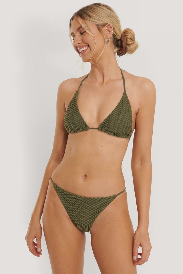 Khaki Green Structured Triangle Panty