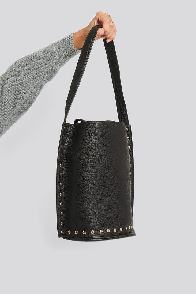 Studded Shopper Black