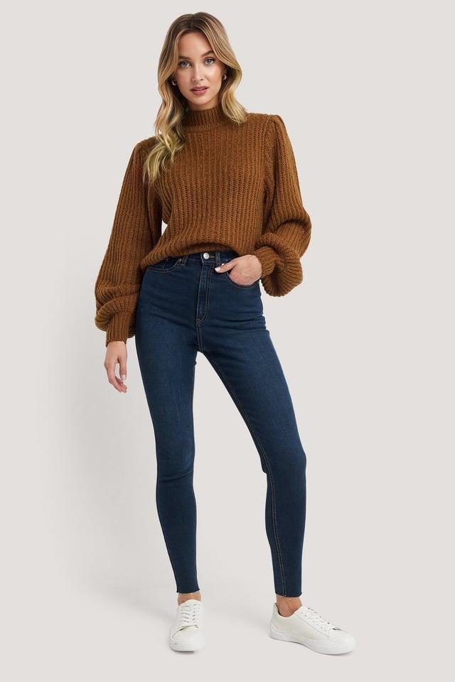 Super High Waist Skinny Jeans NA-KD