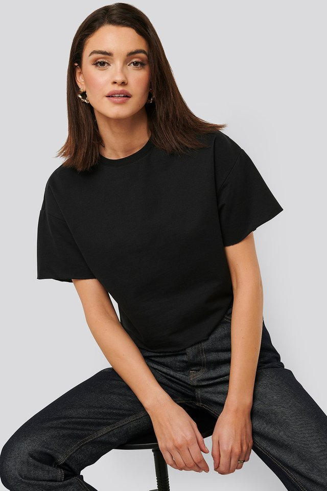 Sweatshirt Tee Black