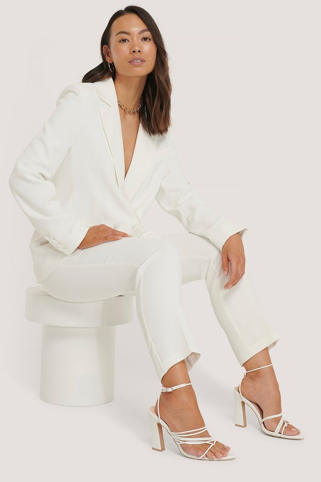 Tailored Blazer White