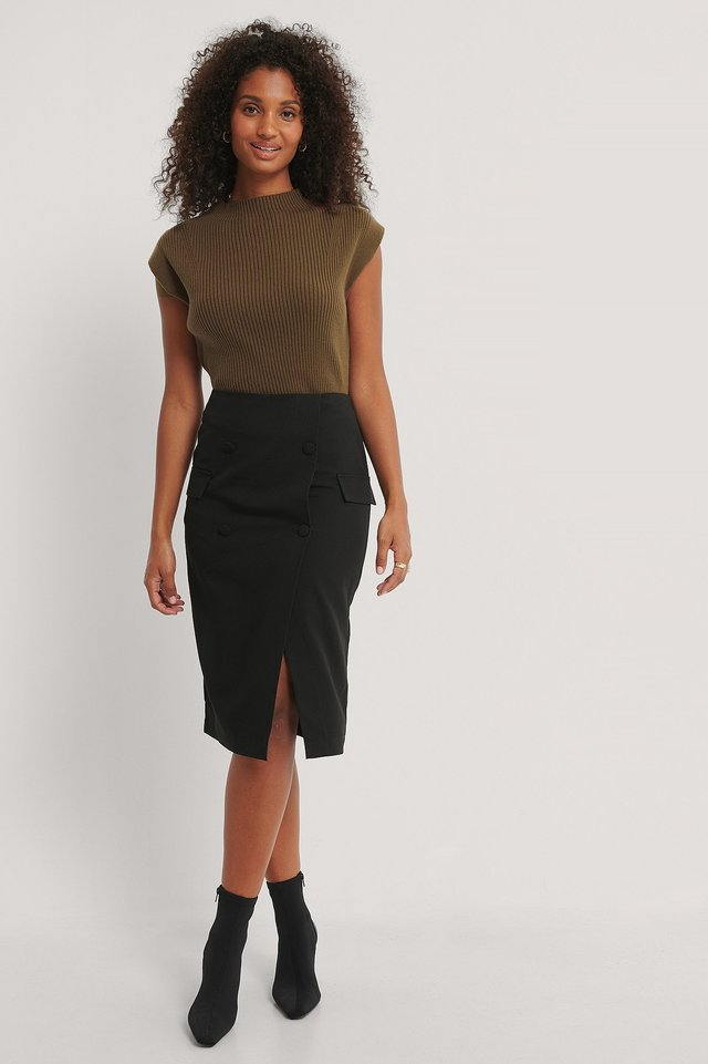 Tailored Skirt Black