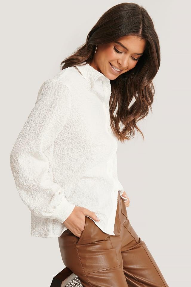 Texturhemd White