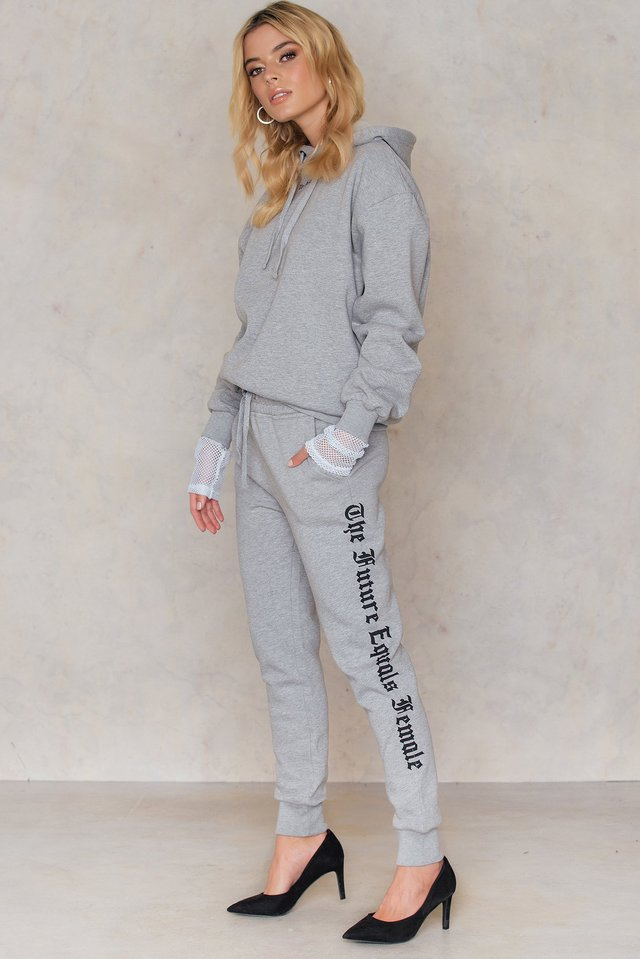The Future Equals Female Sweatpants Light Grey Melange