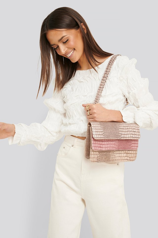 Pink Three Layered Bag