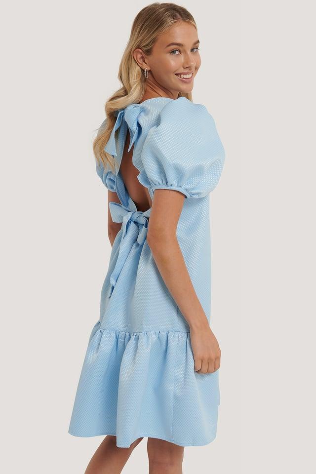 Blue Klänning Med Struktur