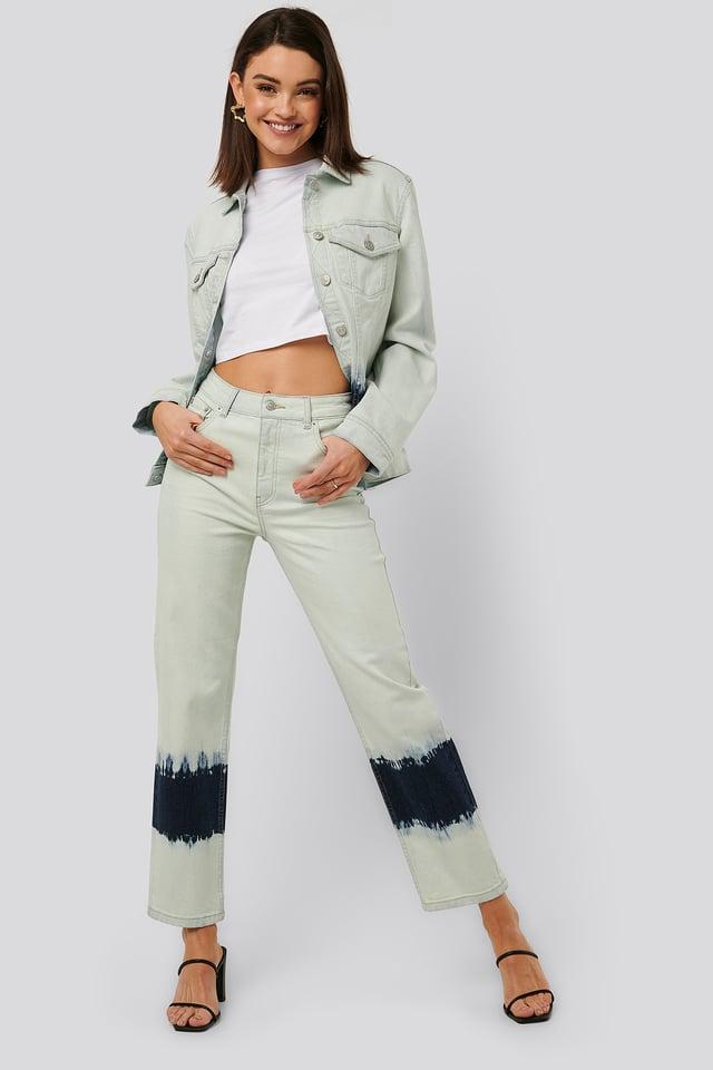 Jeans Med Hög Midja Blue