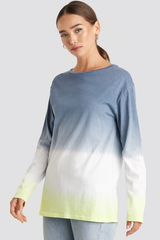 Tie Dye Long Sleeve T-shirt Grey