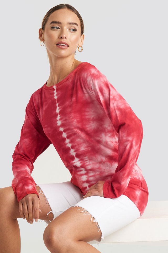Tie Dye Long Sleeve T-shirt Orange