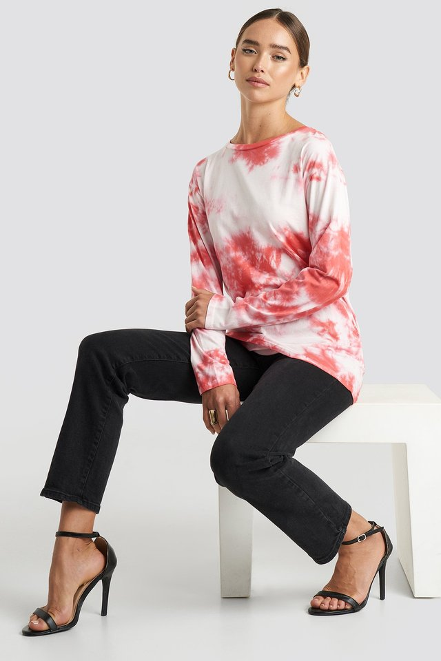 Tie Dye Long Sleeve T-shirt White