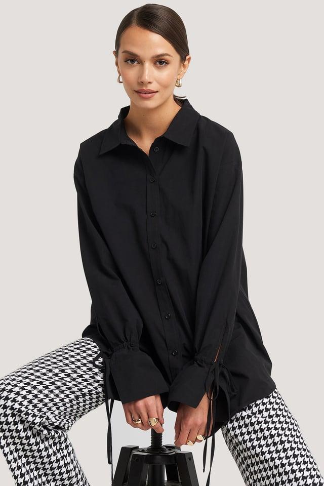 Black Tie Sleeve Shirt
