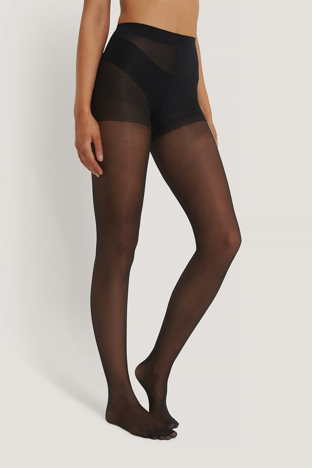 Recycled Tights 30 DEN 2-pack Black