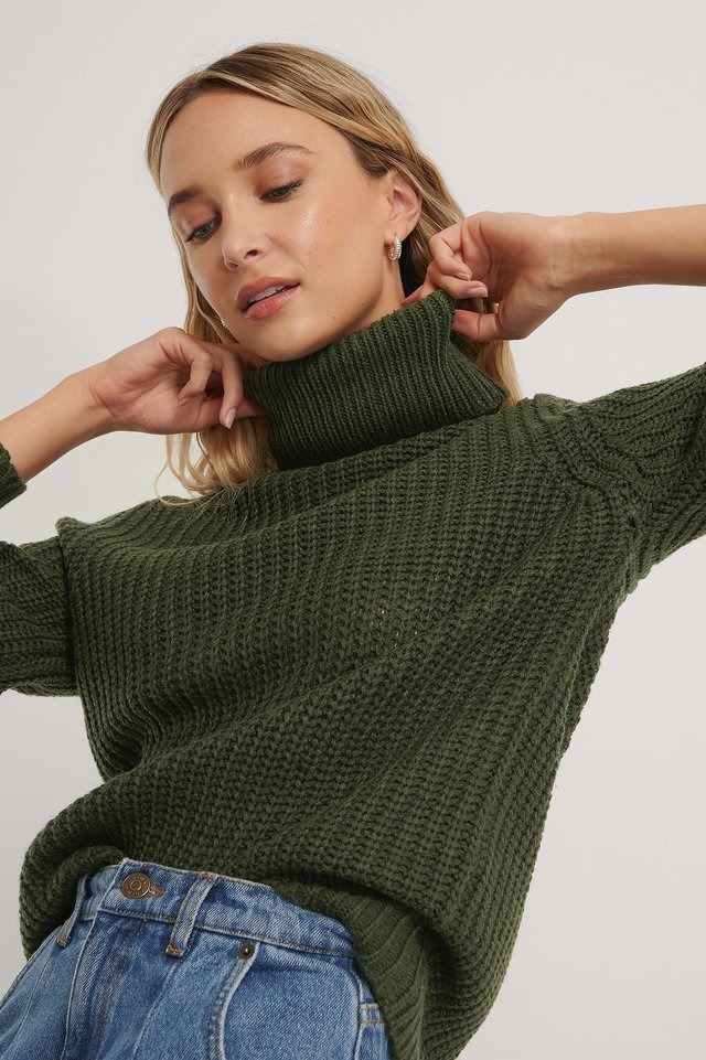 Tinelle Roll Knit Army Green