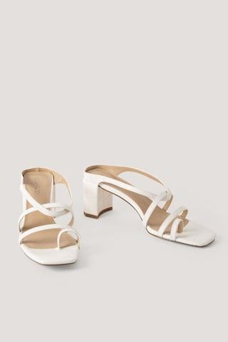 Offwhite Sandale Mit Hohem Absatz