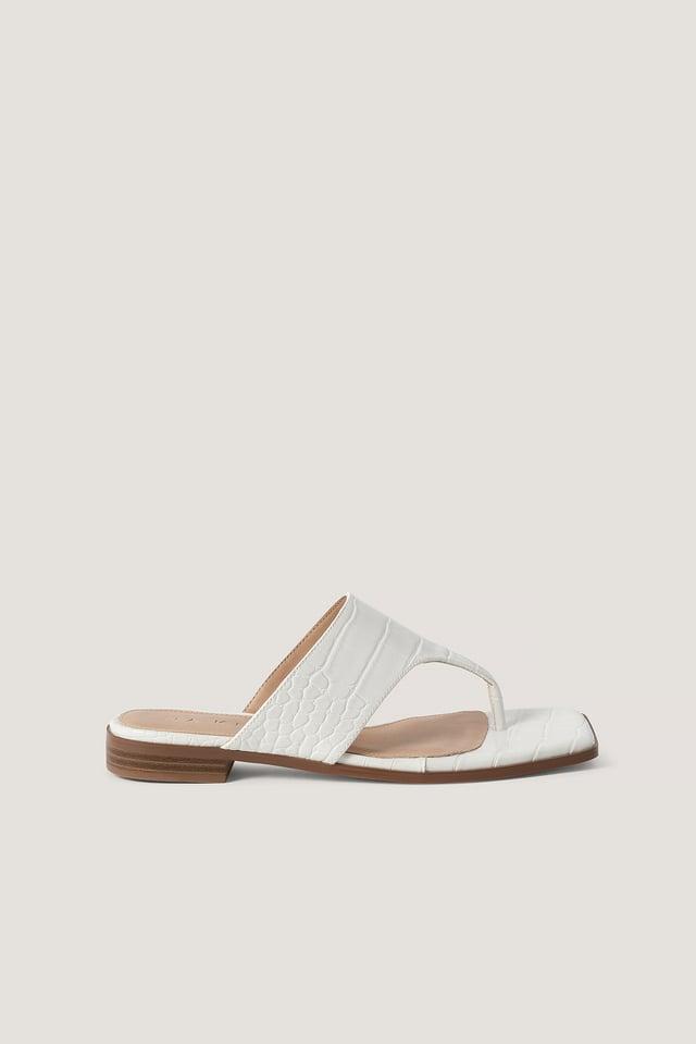 White Slip-In-Sandal