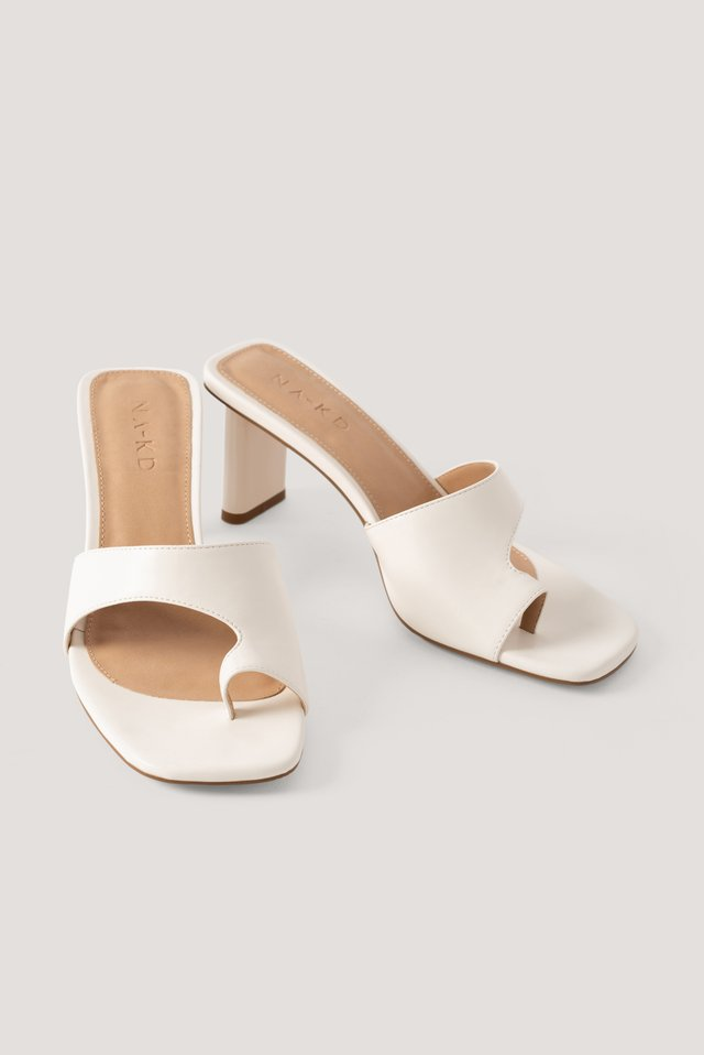 Toe Strap Mules Offwhite