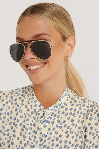 Gold Top Bridge Pilot Sunglasses