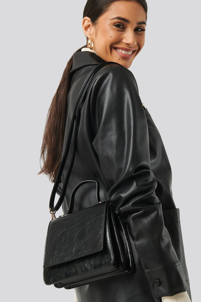 Top Handle Mini Trapeze Bag Black