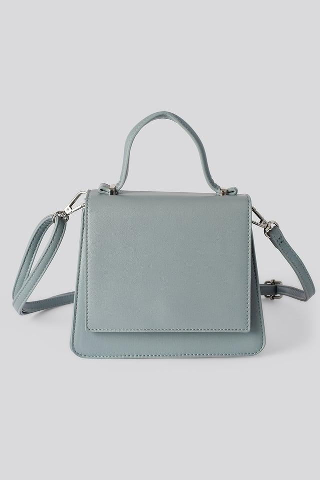 Top Handle Mini Trapeze Bag Stone Blue