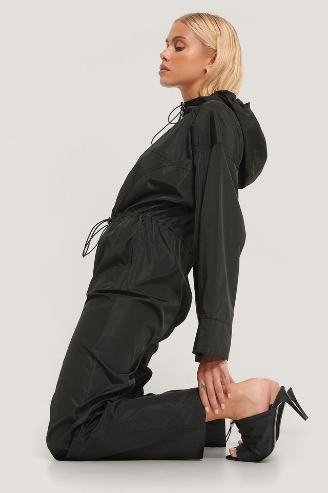 Black Track Jumpsuit