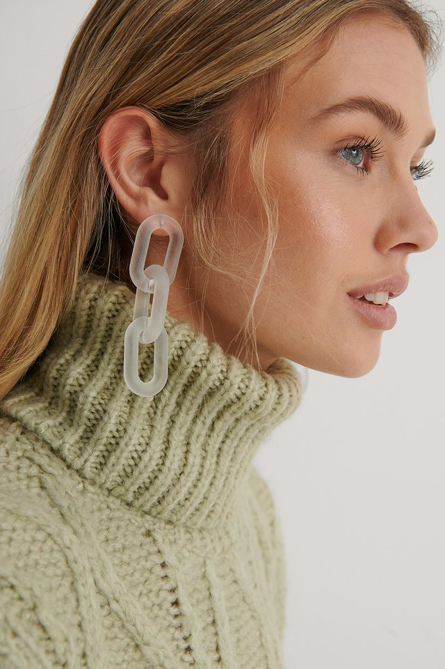 Transparent Transparent Chain Earrings