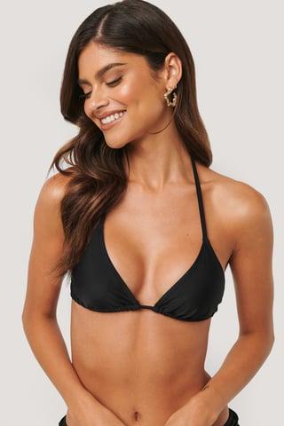 Black Trójkątna Górna Część Bikini