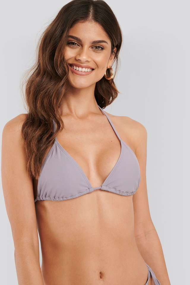Dusty Lilac Triangle Bikini Top