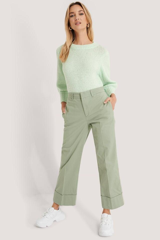 Manschettenhose Green
