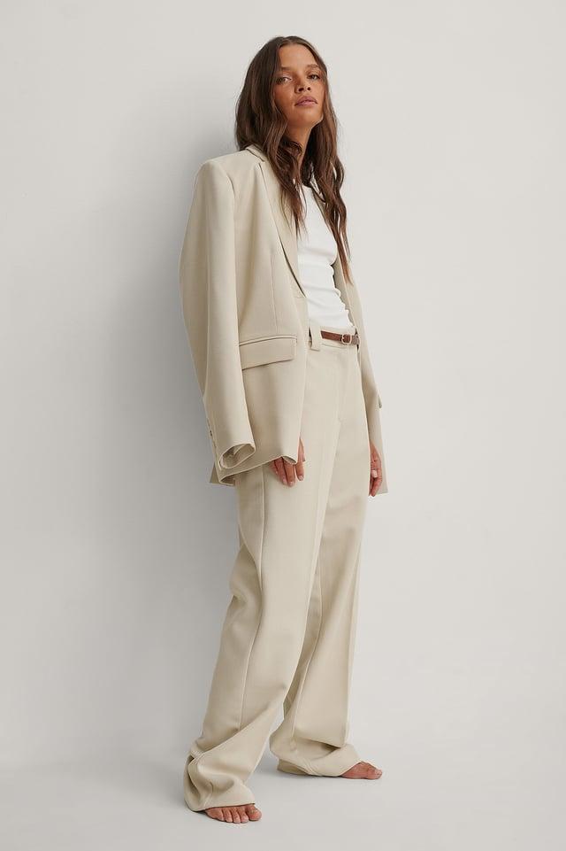 Sand Klassieke Pantalon