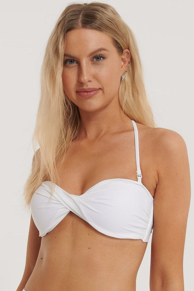Twisted Bikini Top White