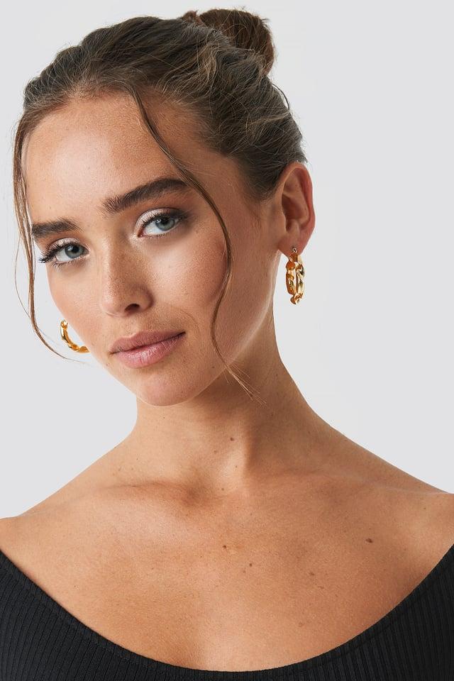 Twisted Hoop Earrings NA-KD Accessories